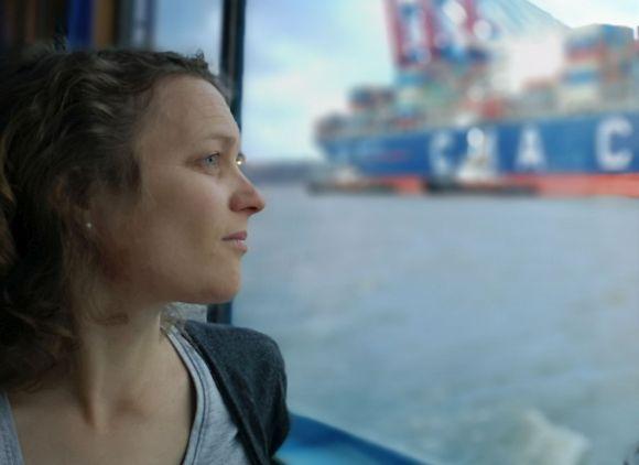 Portrait im Profil von Anna Byland