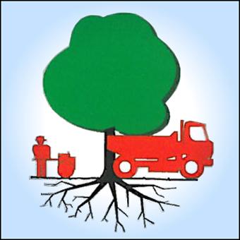 Bild mit Lastwagen und Baum