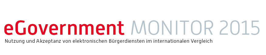 Logo E-Government Monitor 2015