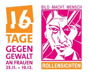 Logo der Kampagne 16 Tage gegen Gewalt an Frauen zum Thema Rollenbilder