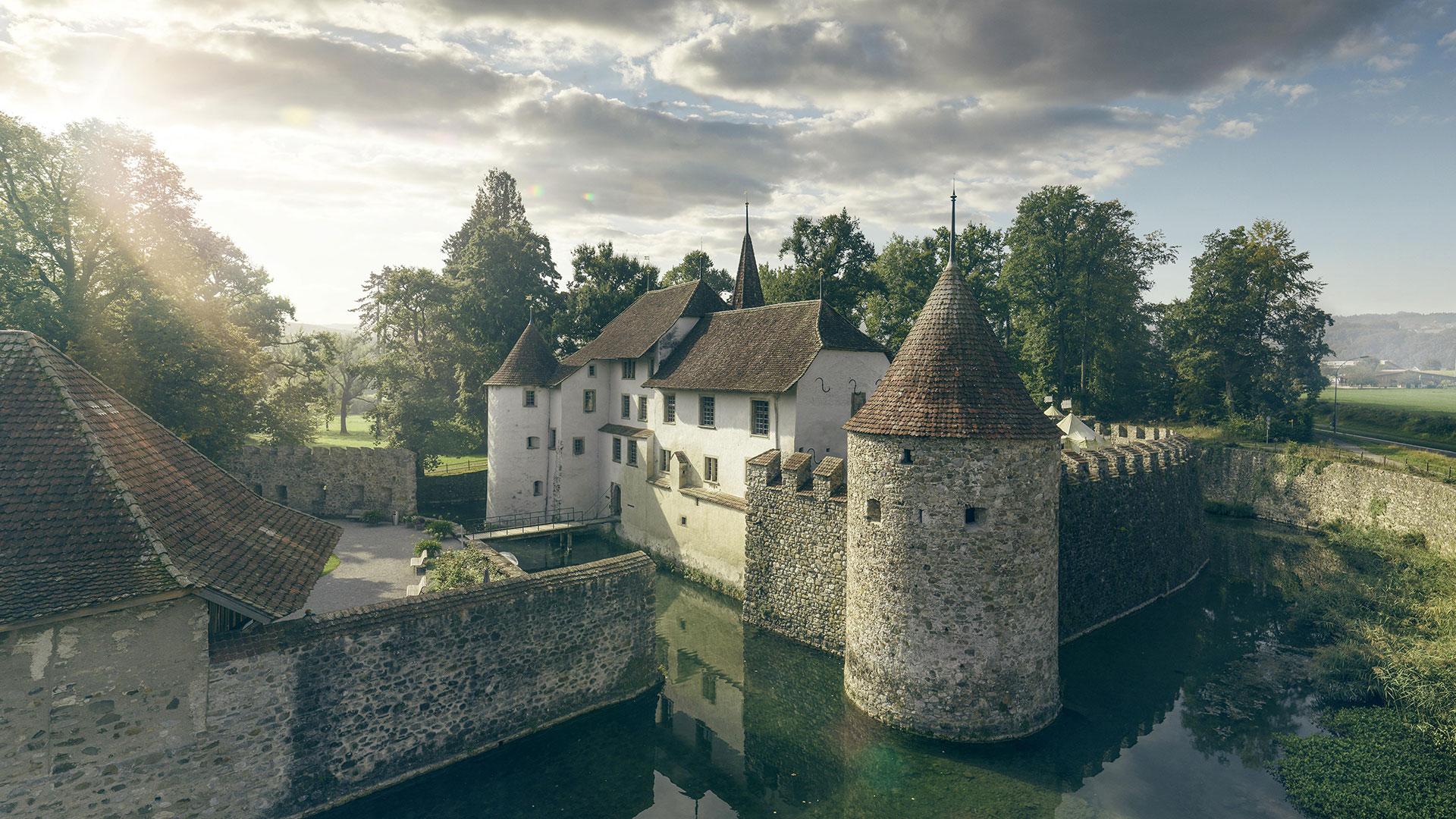 Aussenaufnahme von Schloss Hallwyl