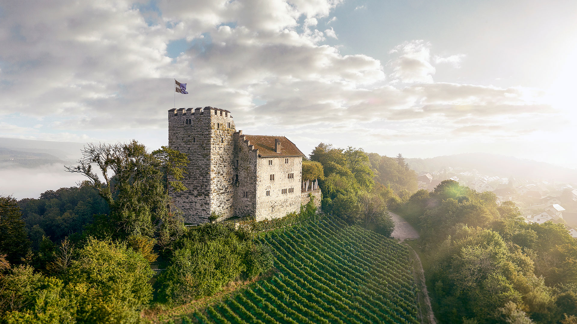 Aussenaufnahme von Schloss Habsburg