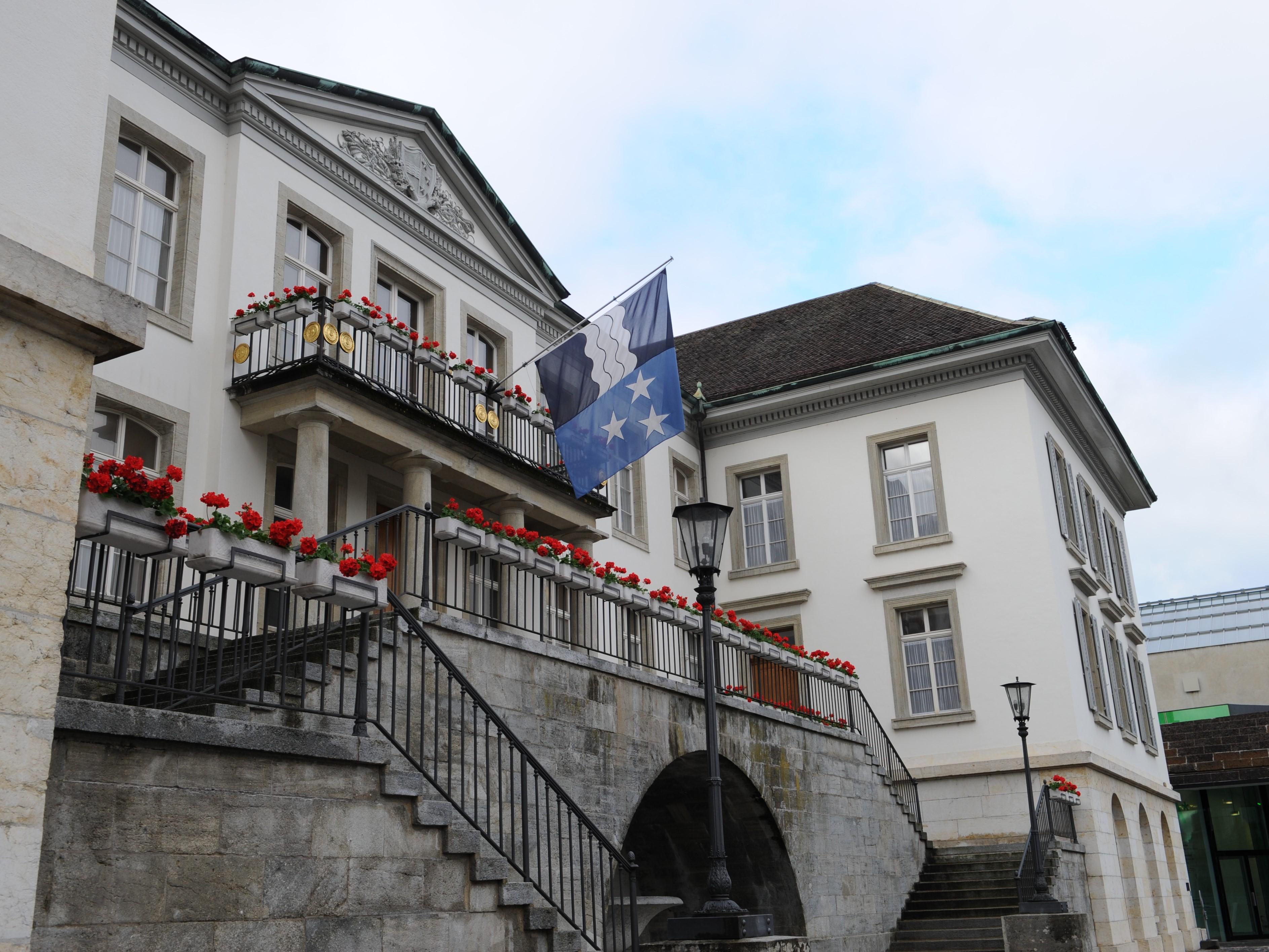Das Regierungsgebäude des Kantons Aargau